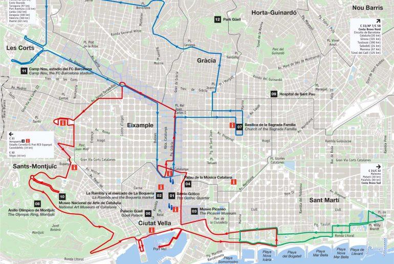 Carte Barcelone Telechargez Le Plan De Barcelone Gratuitement