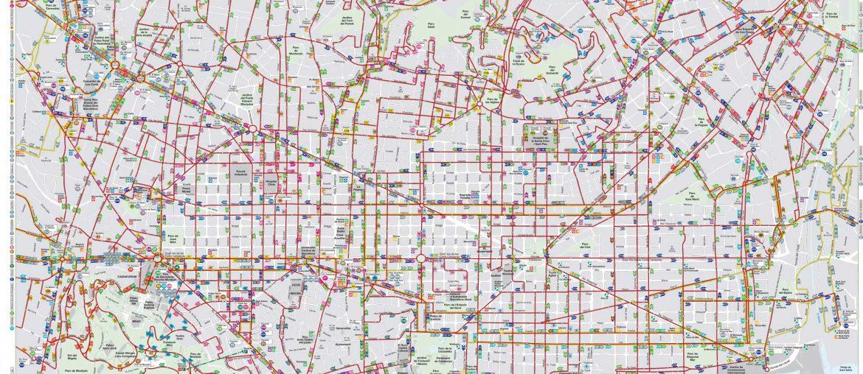 Plan des bus de Barcelone