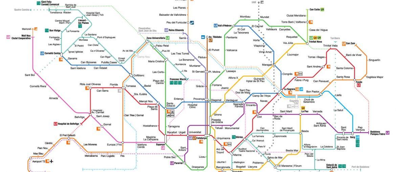 Plan metro de Barcelone