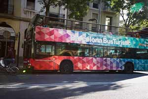 Bus touristique Barcelone Arrêt Creu Coberta
