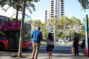 Bus touristique Barcelone Arrêt Diagonal
