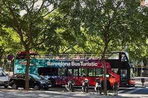 Bus touristique Barcelone Parc Diagonal Mar