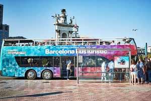 Bus touristique Barcelone Place Espagne