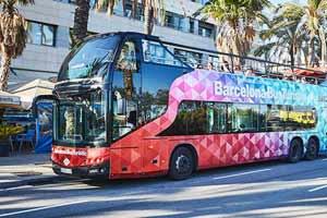 Bus touristique Barcelone Arrêt Poblenou Forum