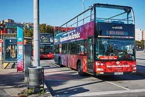 Bus touristique Barcelone Arrêt Sants