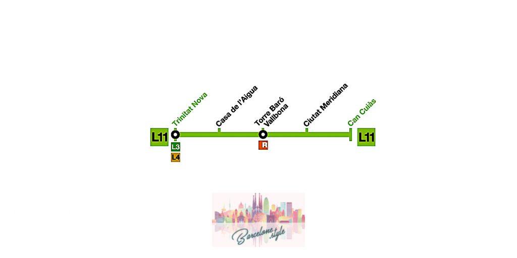 metro barcelone carte plan ligne 11